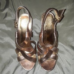 Vince Camuto chunky wooden heels